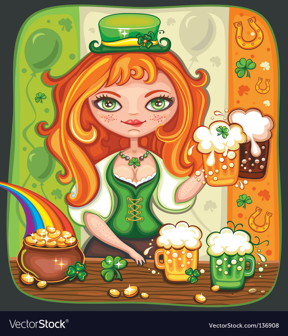 St patrick's day background vector | Price: 5 Credit (USD $5)