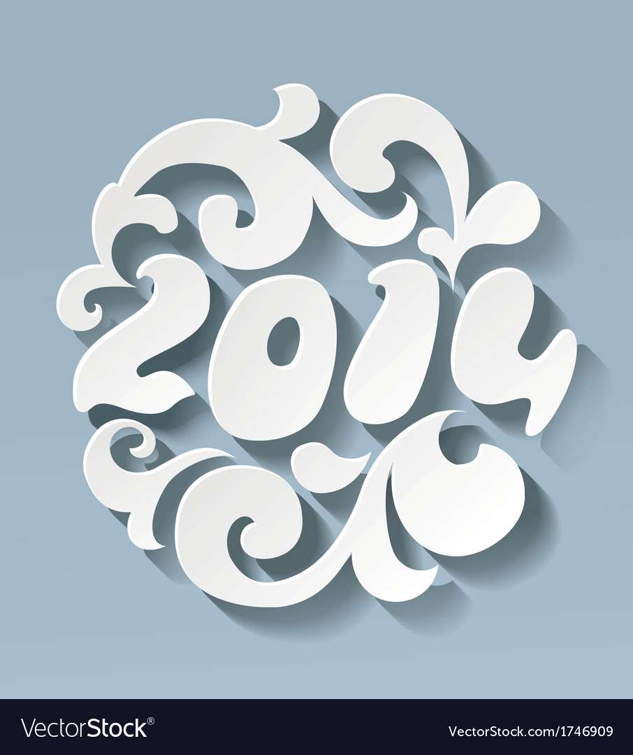 2014 new year vector | Price: 1 Credit (USD $1)