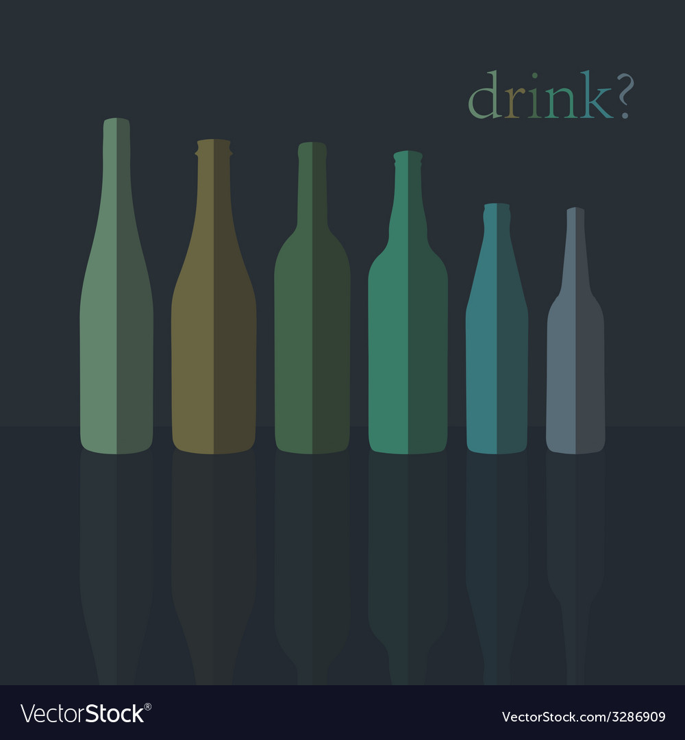 Bottles icons flat design vector | Price: 1 Credit (USD $1)
