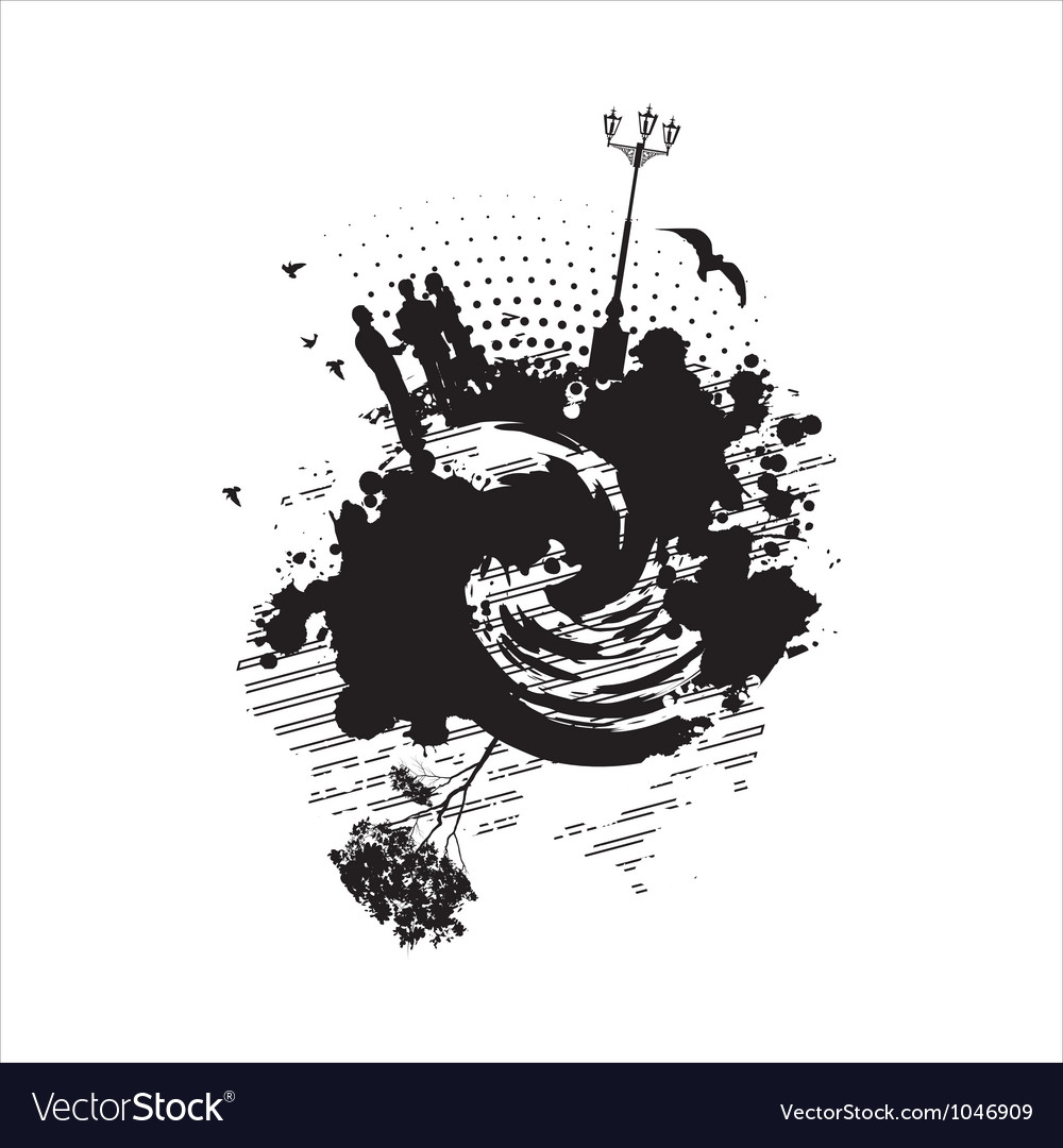 Business people communicate on an abstract vector | Price: 1 Credit (USD $1)