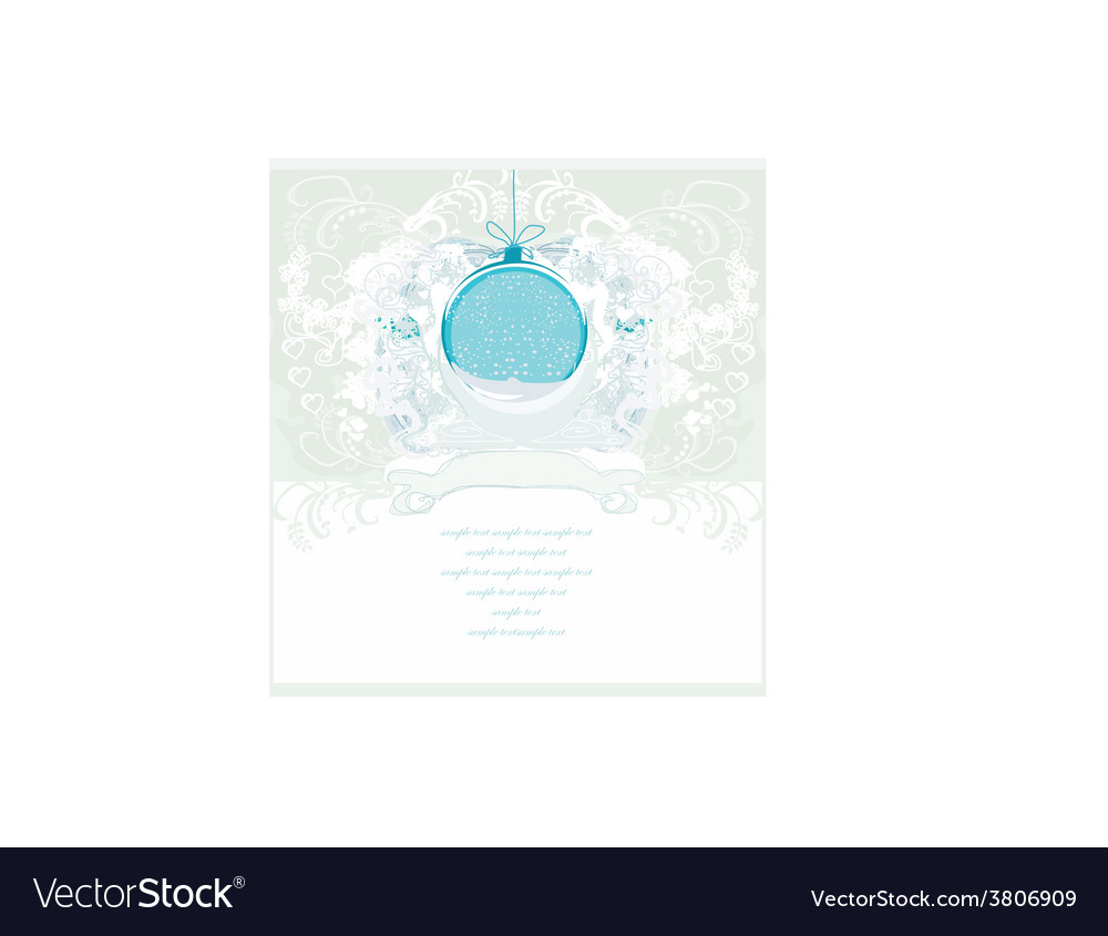 Christmas framework style with bauble card vector | Price: 1 Credit (USD $1)