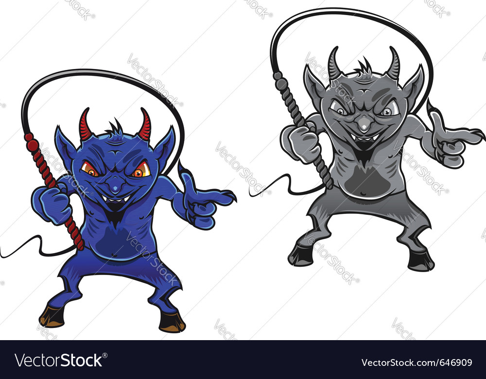 Danger cartoon devil vector | Price: 3 Credit (USD $3)