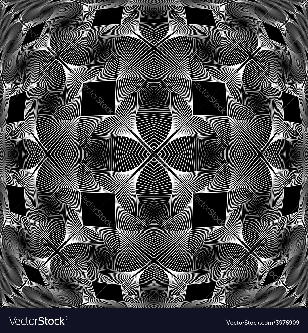 Design monochrome decorative geometric pattern vector | Price: 1 Credit (USD $1)