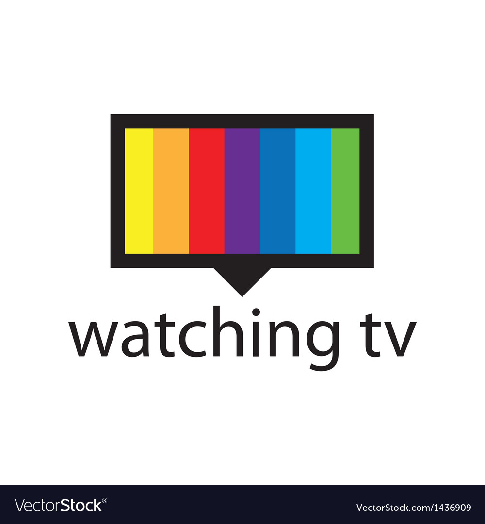 Logo with a spectrum in the tv screen vector | Price: 1 Credit (USD $1)