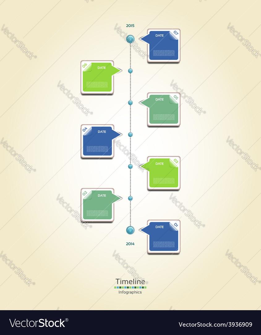 Modern timeline design template vector   Price: 1 Credit (USD $1)