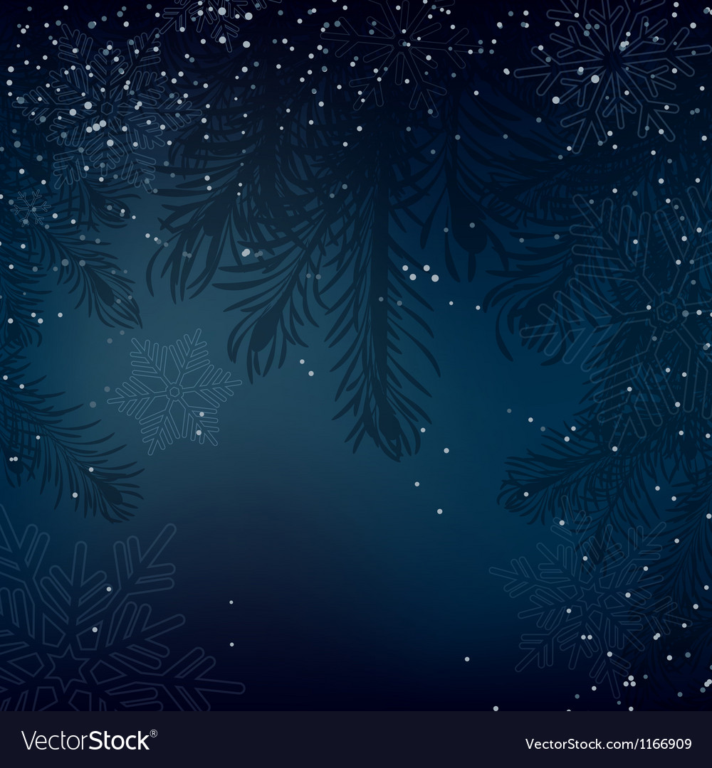Night christmas background with whirling snow and vector | Price: 1 Credit (USD $1)