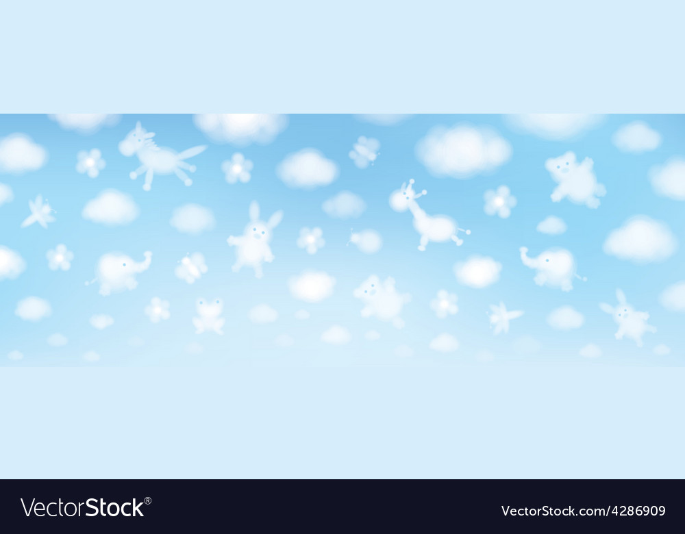 Sky cartoons clouds vector