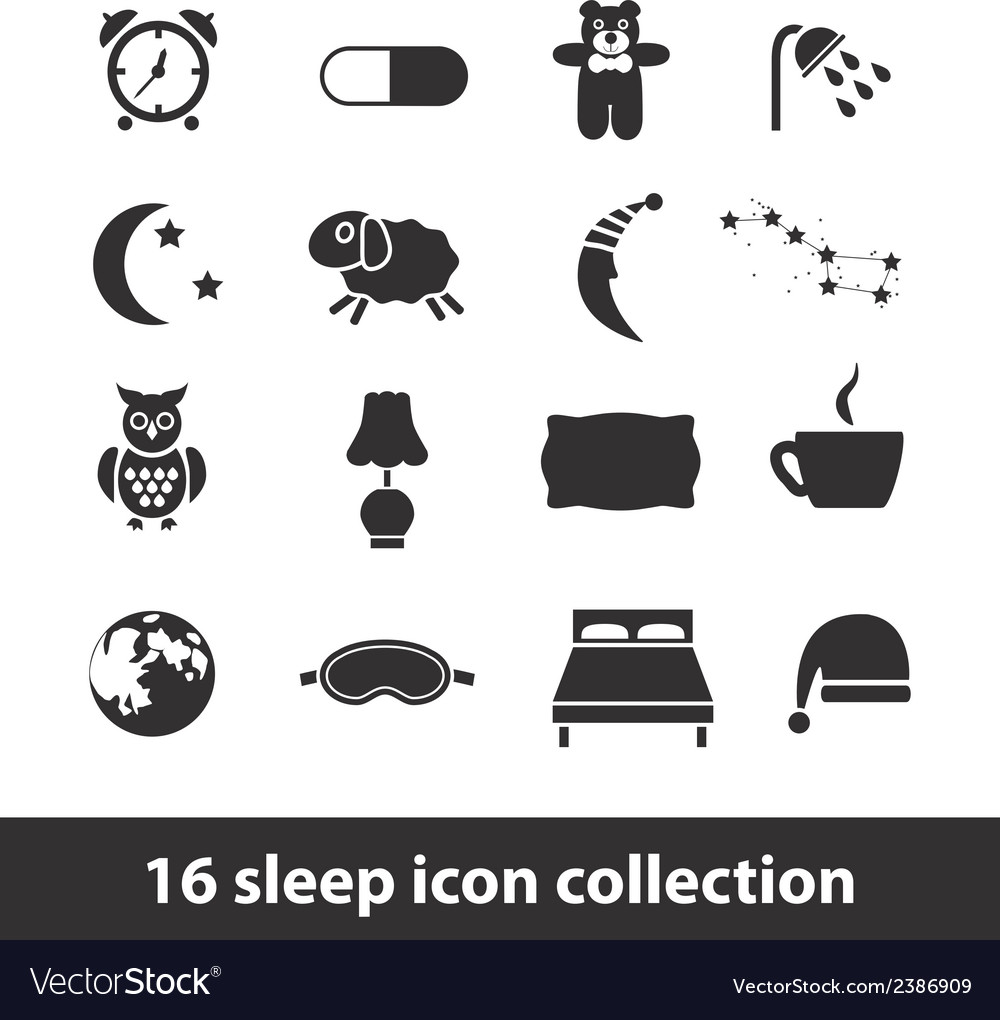 Sleep icons vector | Price: 1 Credit (USD $1)