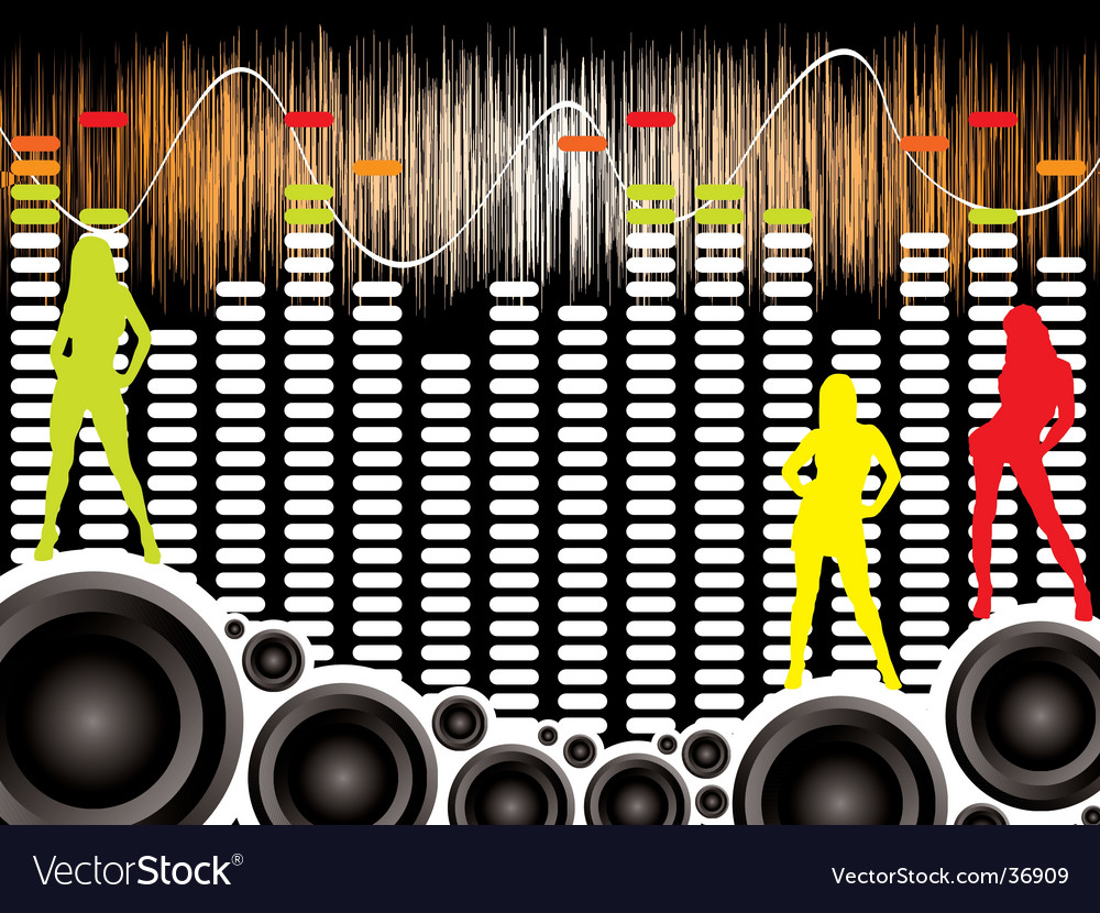 Wall of sound sexy vector | Price: 1 Credit (USD $1)