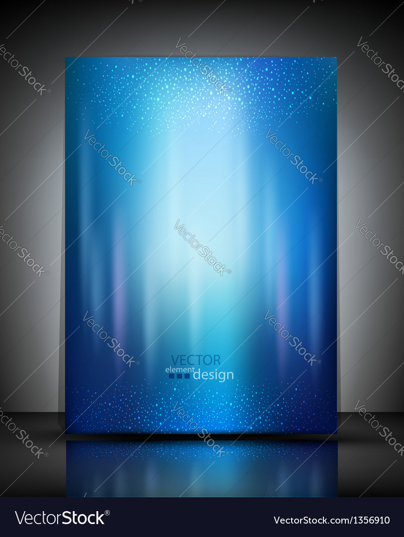 Abstract brochure blue background vector | Price: 1 Credit (USD $1)