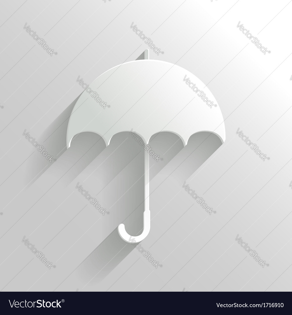 Abstract umbrella on white background vector | Price: 1 Credit (USD $1)