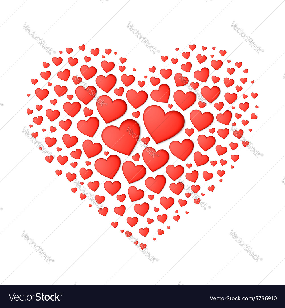 Big red heart from small vector | Price: 1 Credit (USD $1)