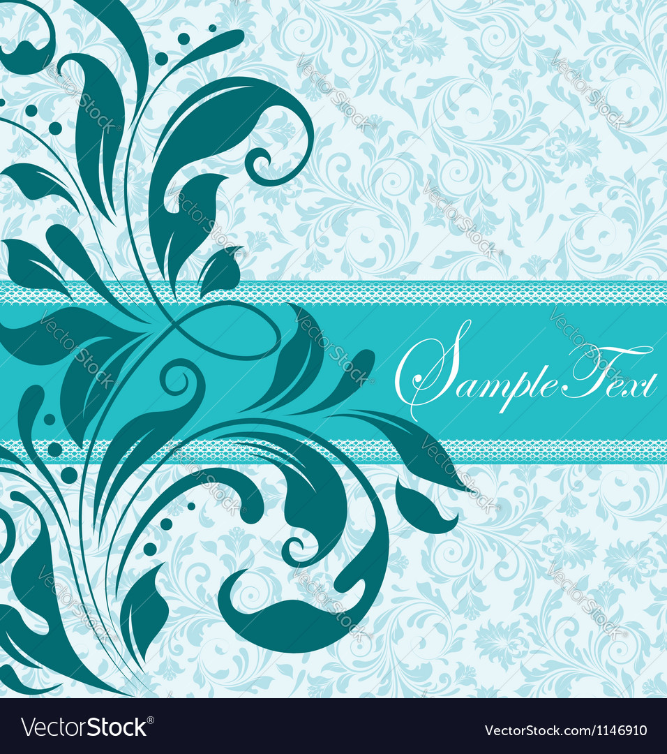 Blue floral document template vector | Price: 1 Credit (USD $1)