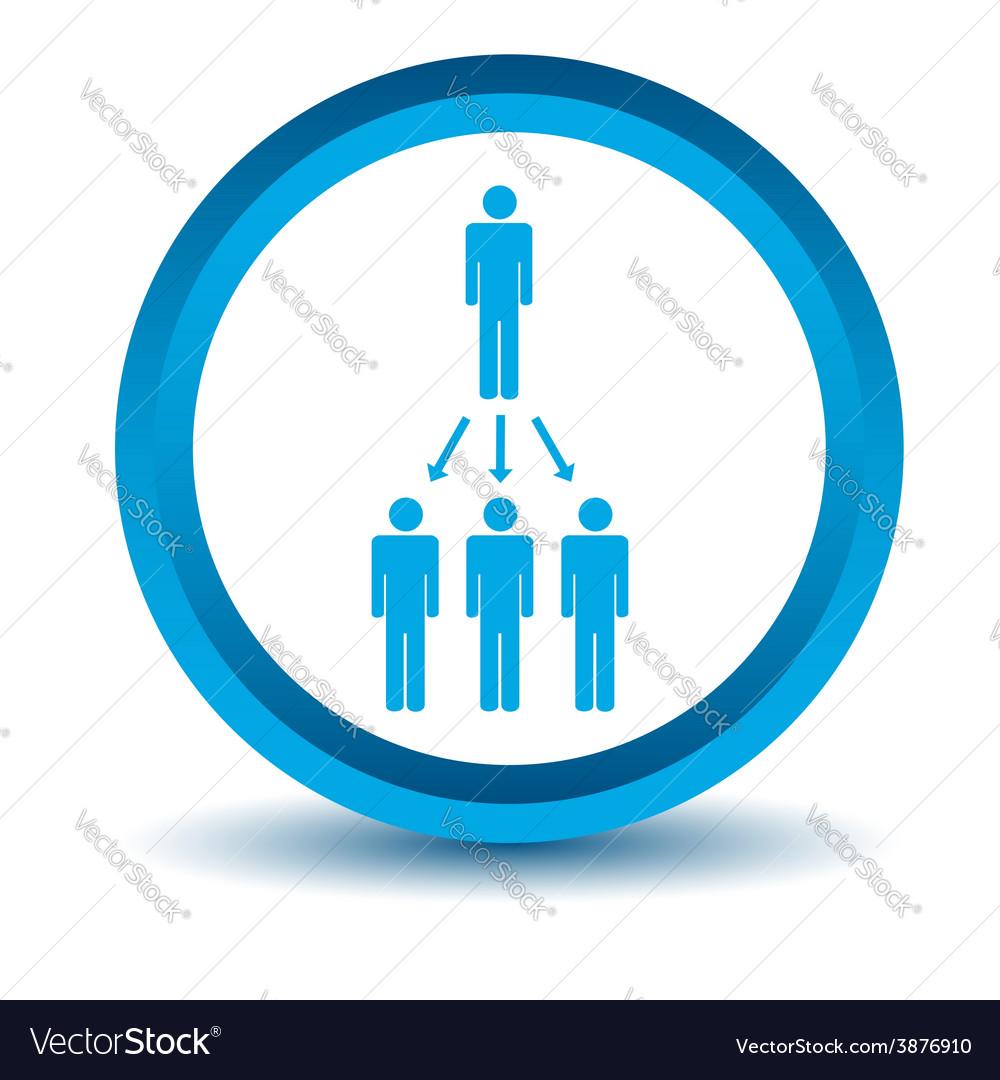 Blue work scheme icon vector | Price: 1 Credit (USD $1)
