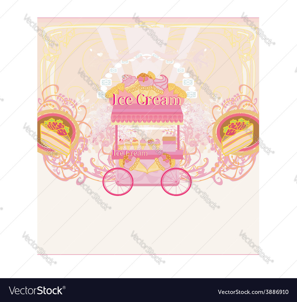 Candy store - abstract retro card vector | Price: 1 Credit (USD $1)