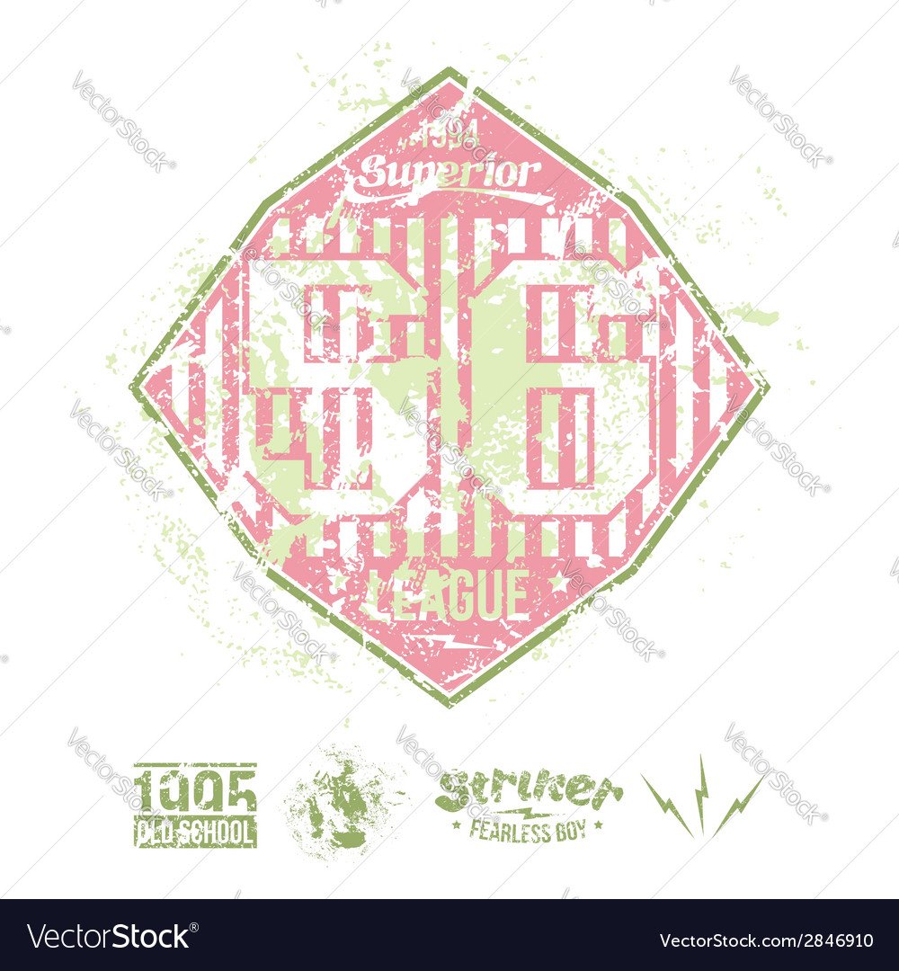 College girl team rugby retro emblem vector | Price: 1 Credit (USD $1)