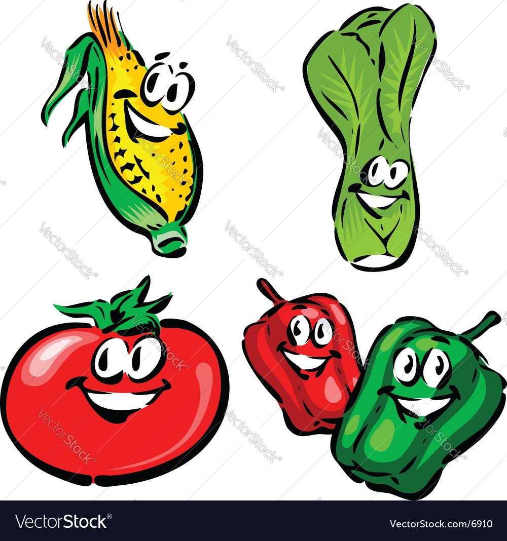 Corn leak tomato peppers vector | Price: 1 Credit (USD $1)