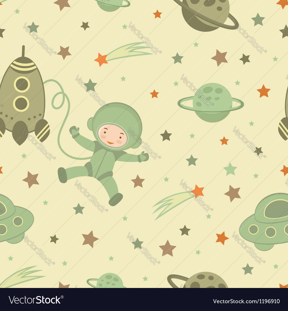 Cosmonaut pattern vector | Price: 1 Credit (USD $1)