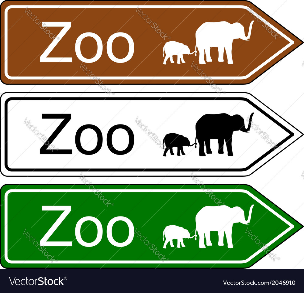 Direction sign zoo vector   Price: 1 Credit (USD $1)