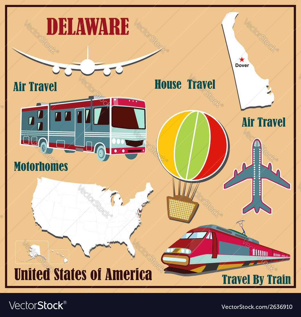 Flat map of delaware vector | Price: 1 Credit (USD $1)