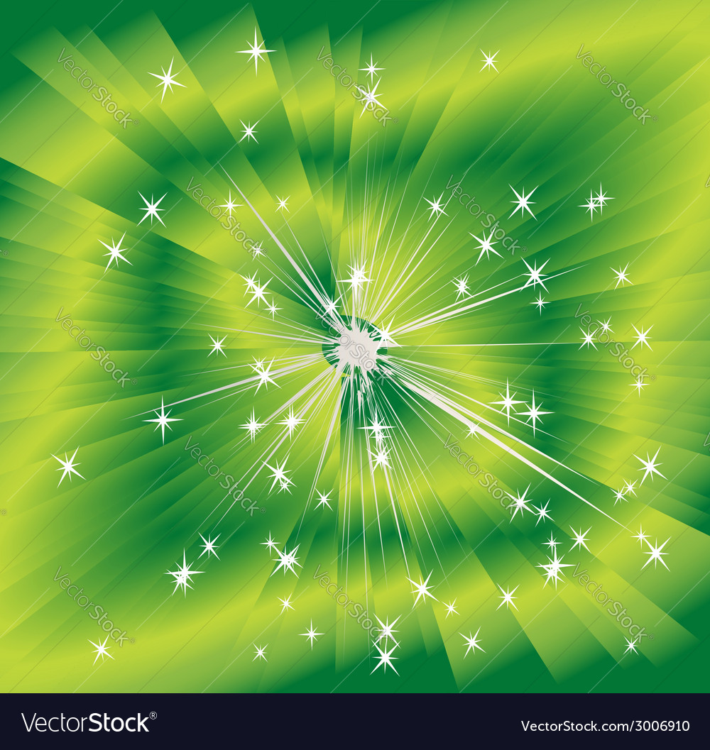 Green shining magic light background vector | Price: 1 Credit (USD $1)