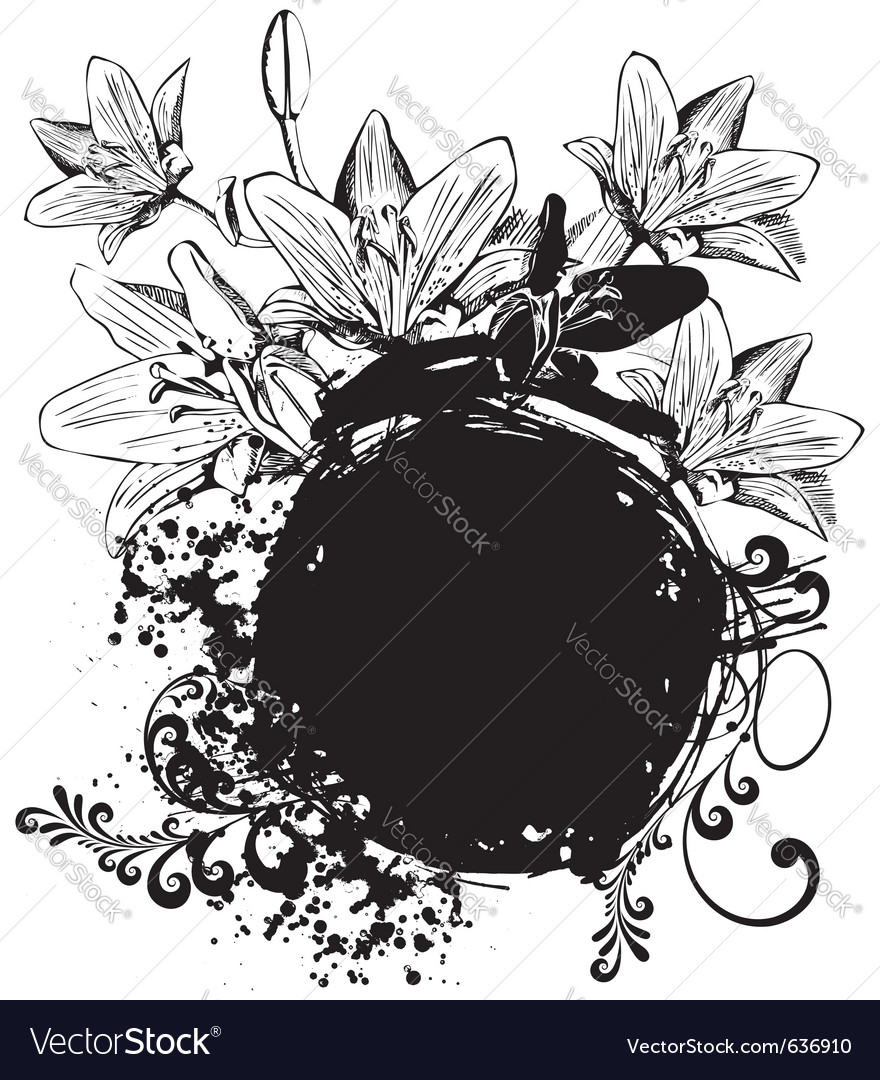 Grunge floral vector | Price: 1 Credit (USD $1)