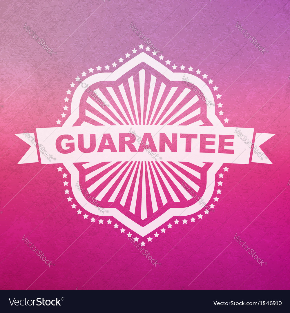 Guarantee sign vector   Price: 1 Credit (USD $1)