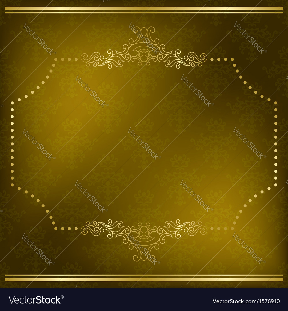 Olive card with gold frame vector | Price: 1 Credit (USD $1)