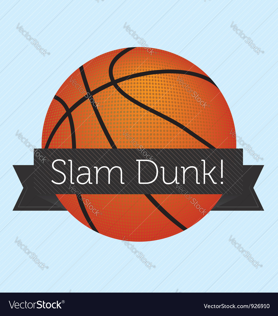 Slam dunk banner vector | Price: 1 Credit (USD $1)