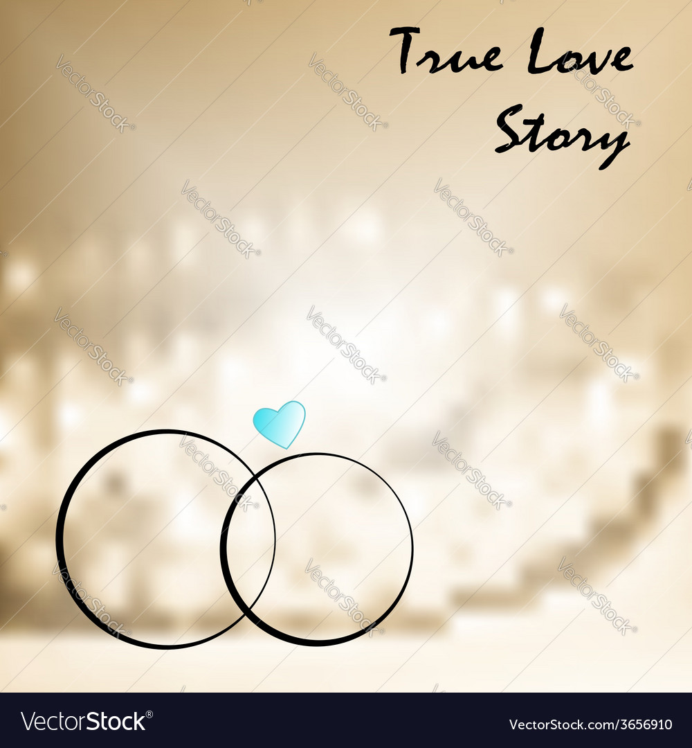 True love with two weddings rings vector | Price: 1 Credit (USD $1)