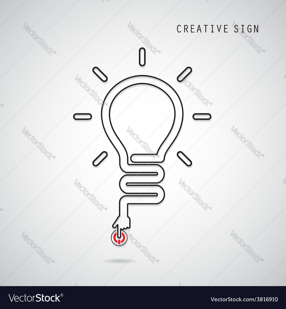 Turn on creative light bulb concept vector | Price: 1 Credit (USD $1)