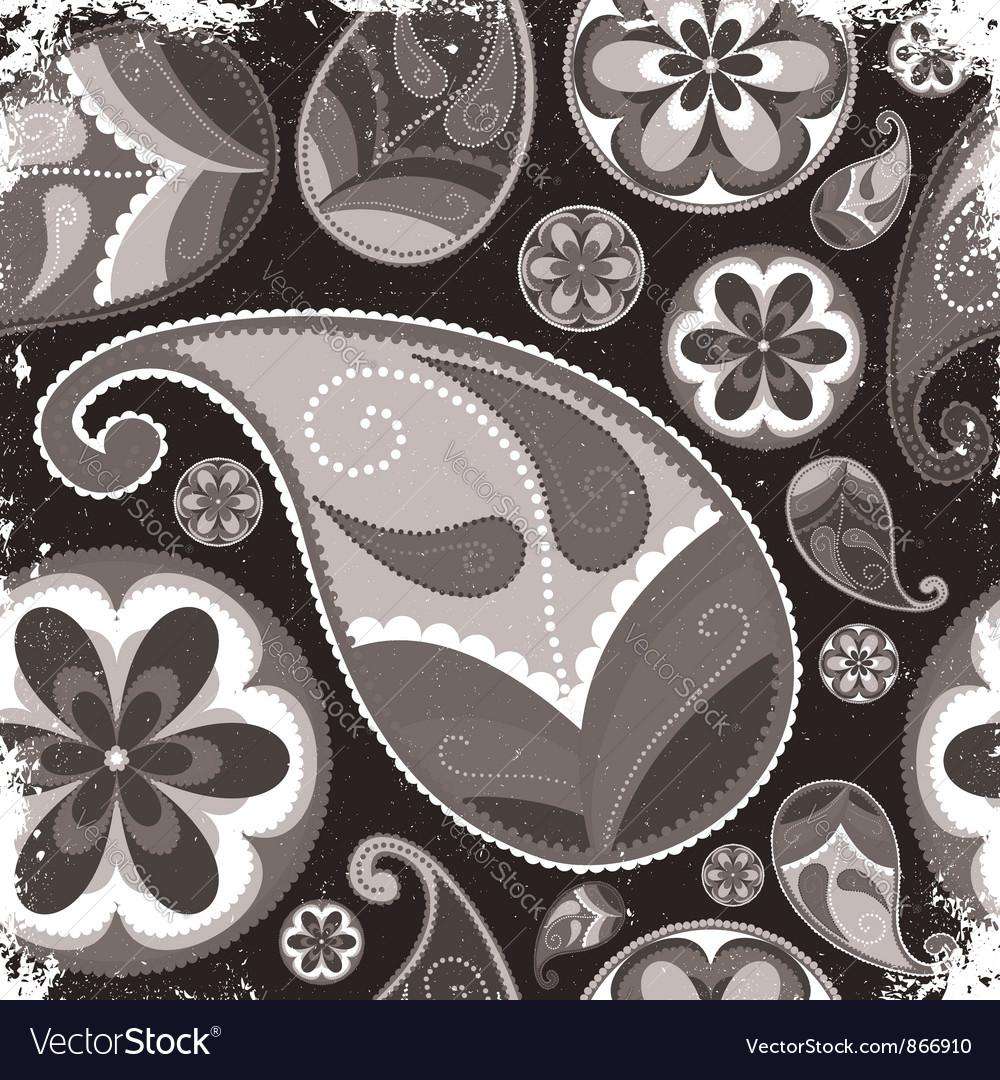 Vintage grunge paisley wallpaper vector | Price: 1 Credit (USD $1)