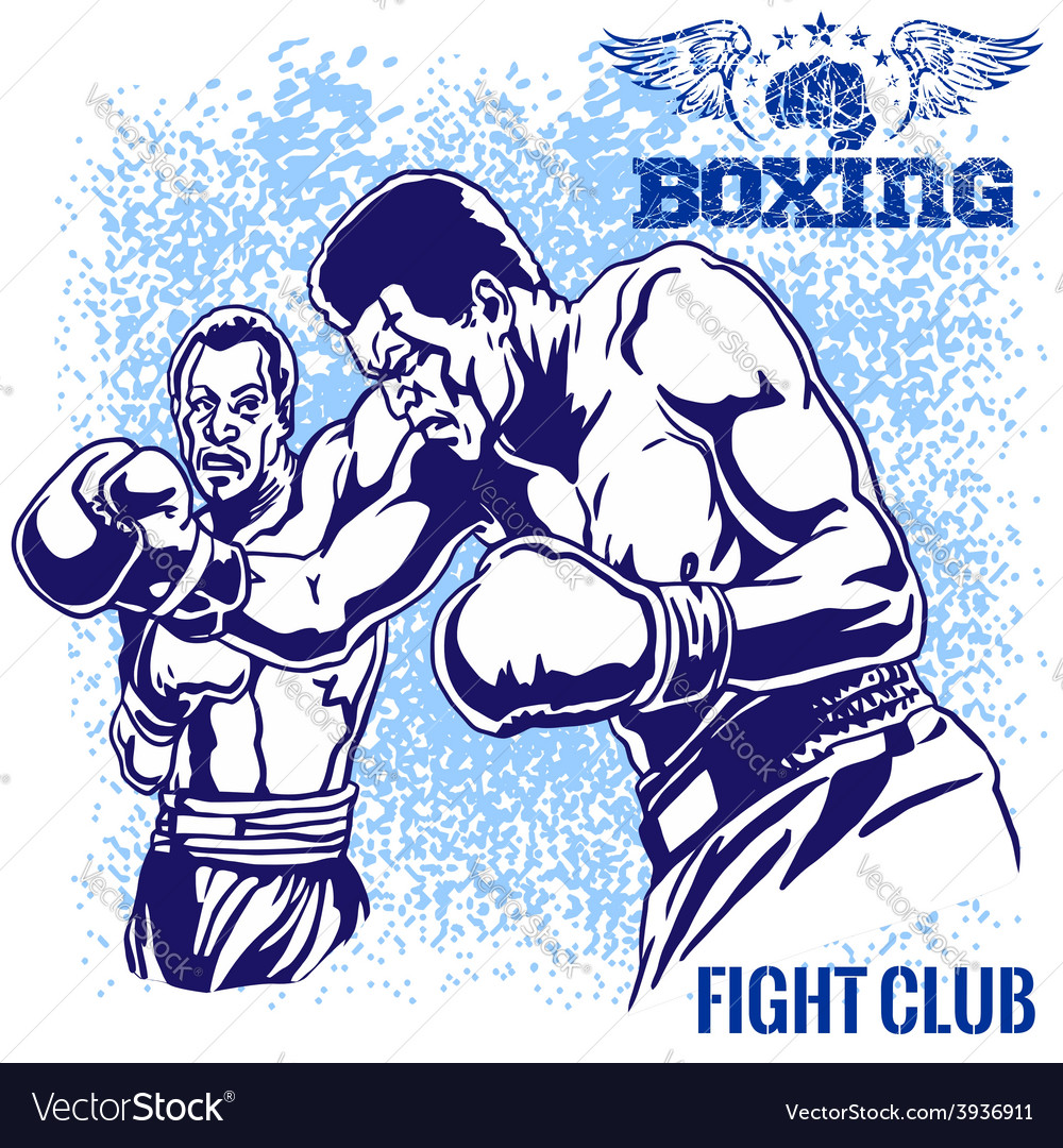 Boxing match - retro on grunge vector | Price: 3 Credit (USD $3)