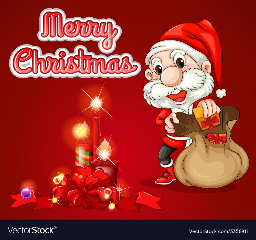 Christmas greeting card vector | Price: 5 Credit (USD $5)