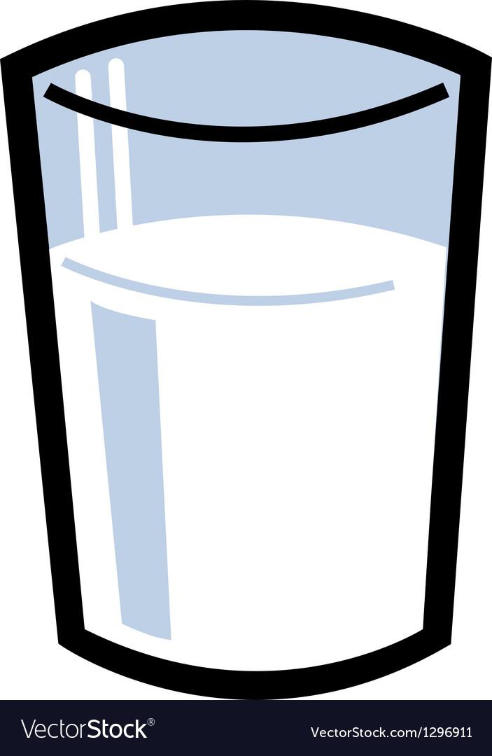 Glass of milk vector | Price: 1 Credit (USD $1)