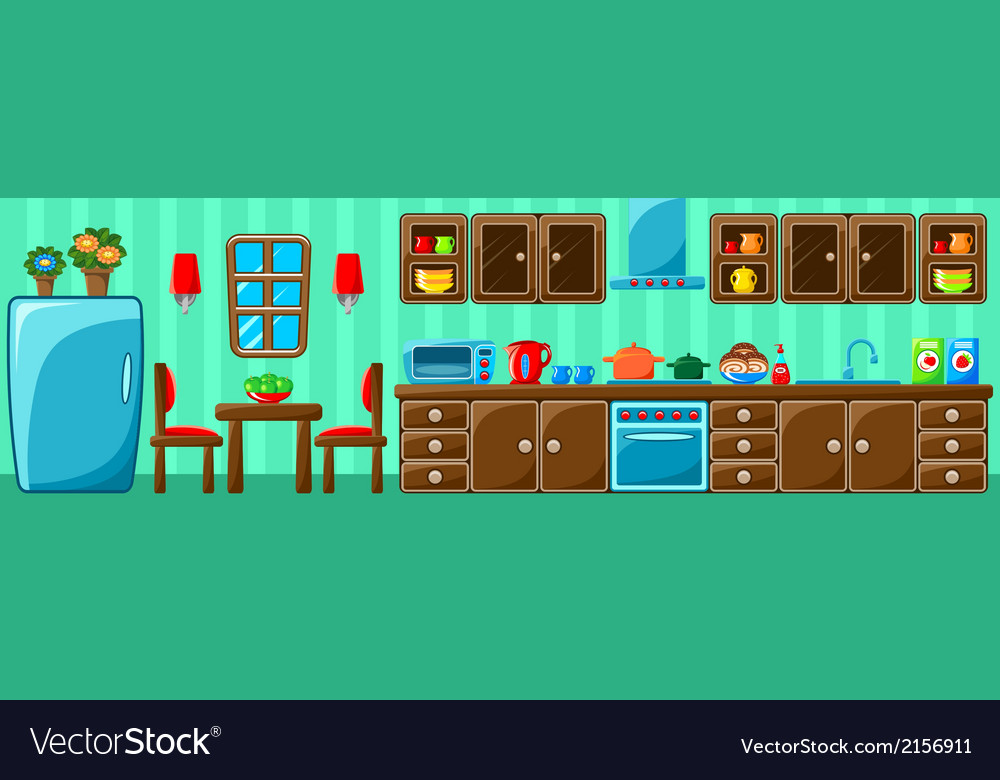 Kitchen interior vector | Price: 1 Credit (USD $1)