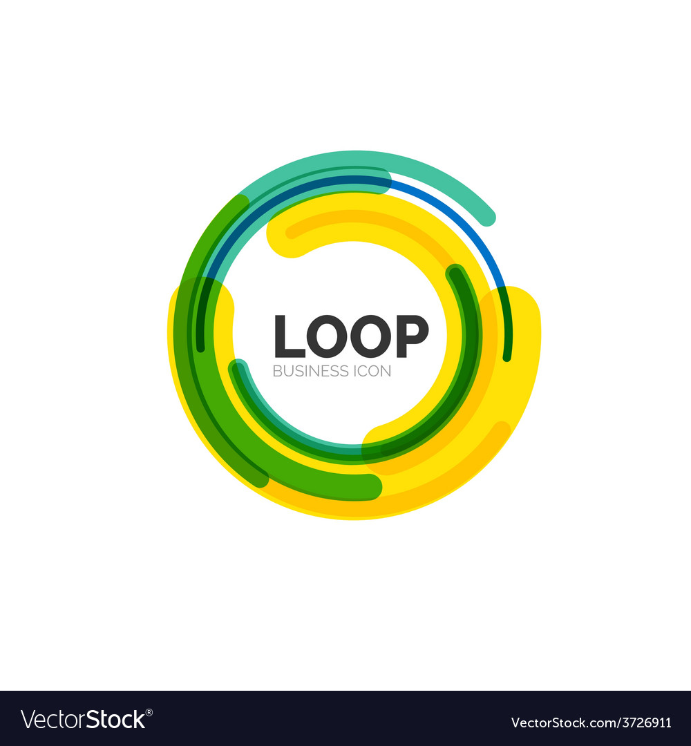 Loop infinity business icon vector | Price: 1 Credit (USD $1)