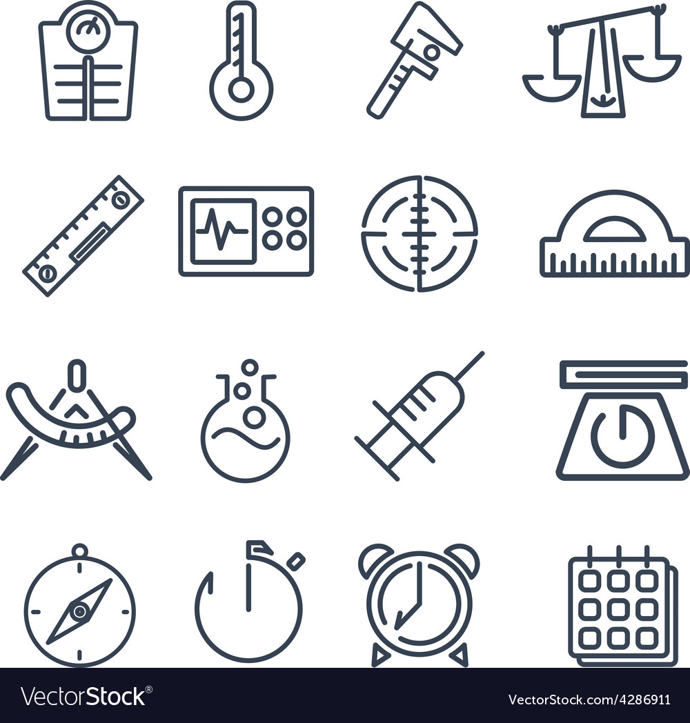 Measurement tools icon pack vector | Price: 1 Credit (USD $1)