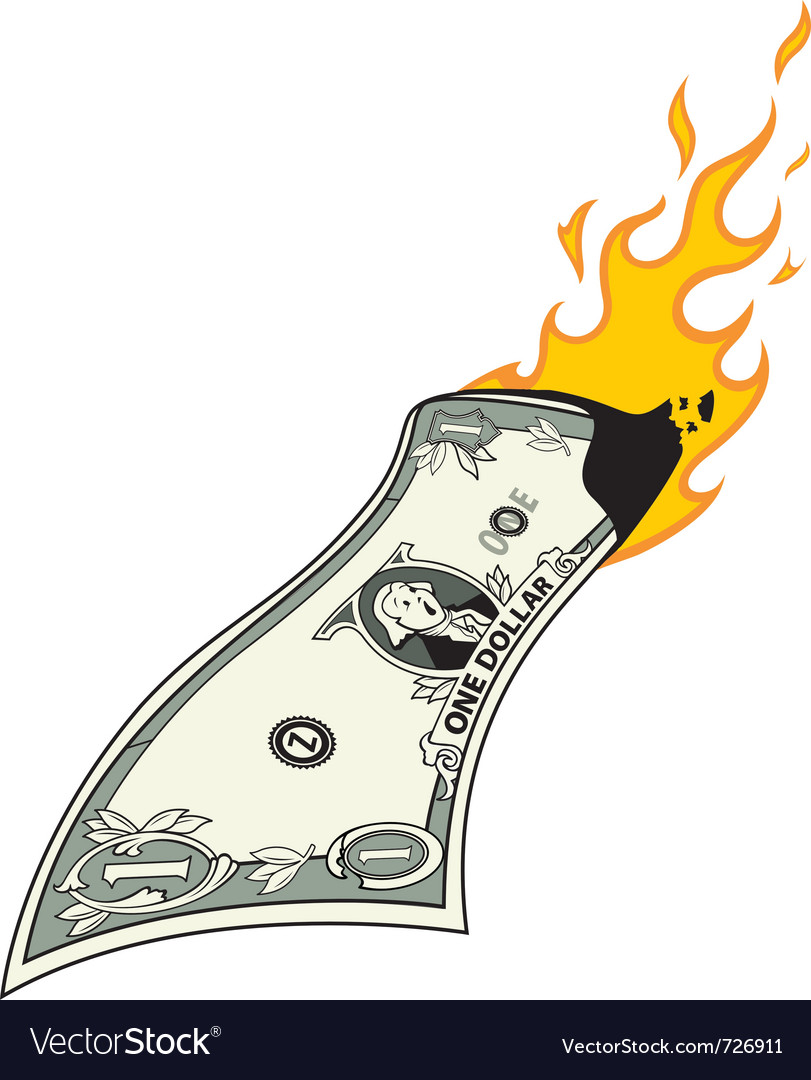 Money to burn vector | Price: 1 Credit (USD $1)