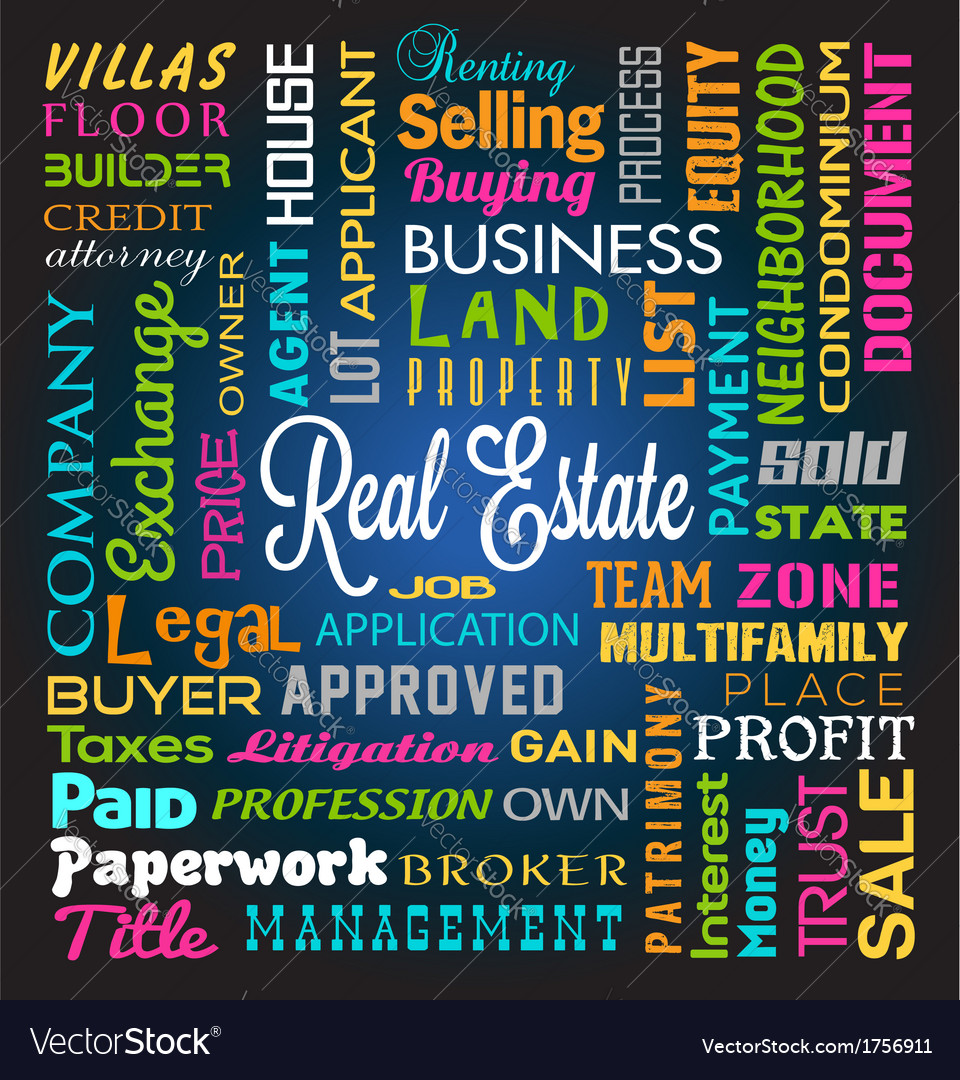 Real estate theme background vector | Price: 1 Credit (USD $1)