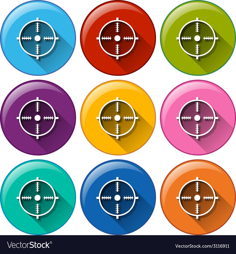 Round icons with a target chart vector | Price: 1 Credit (USD $1)