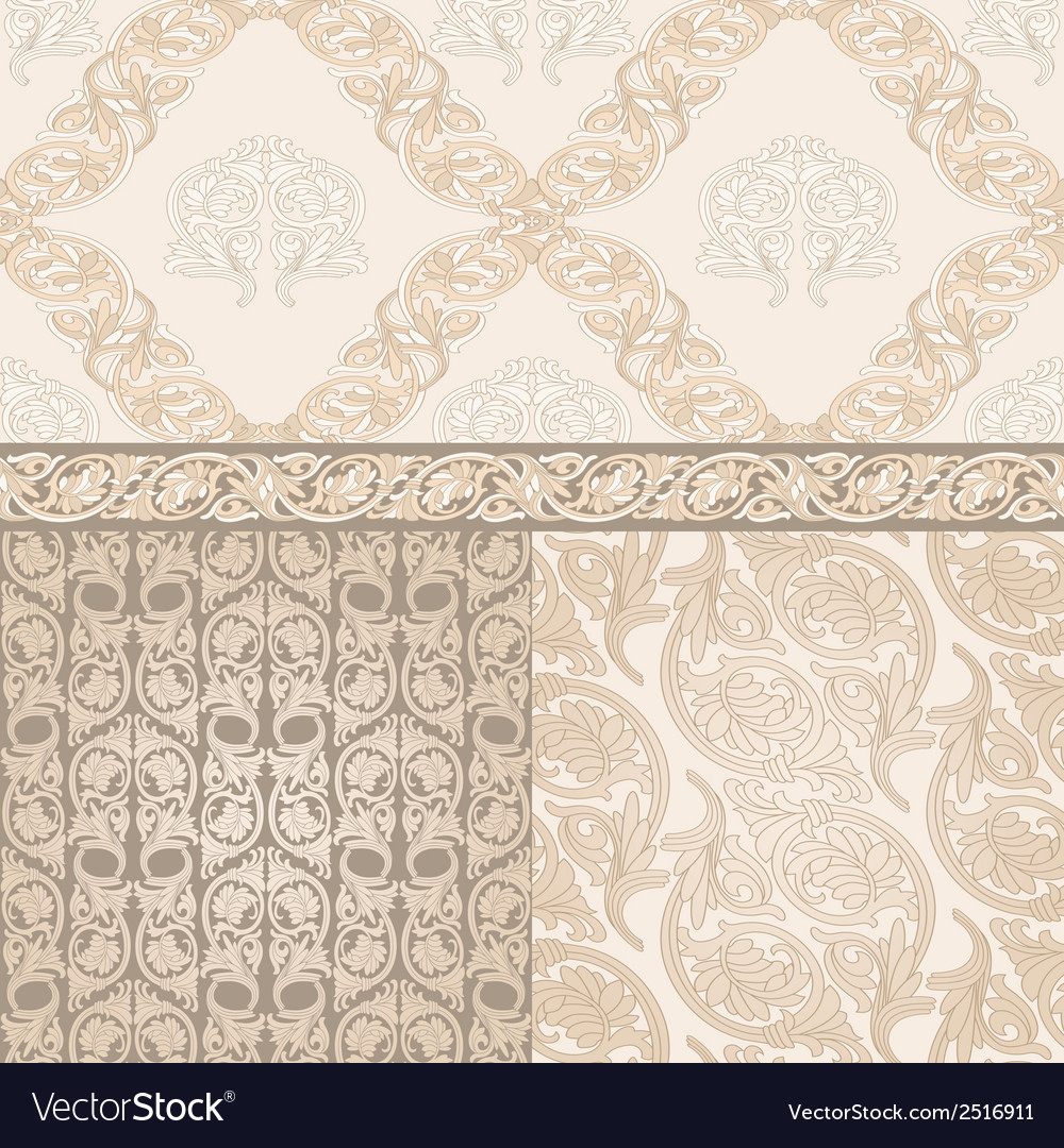 Set of seamless pattern in dmask style vector | Price: 1 Credit (USD $1)