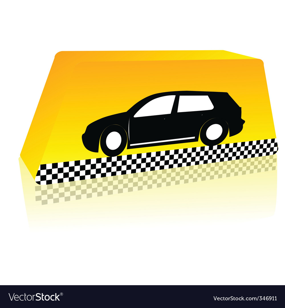 Taxi on the way vector | Price: 1 Credit (USD $1)