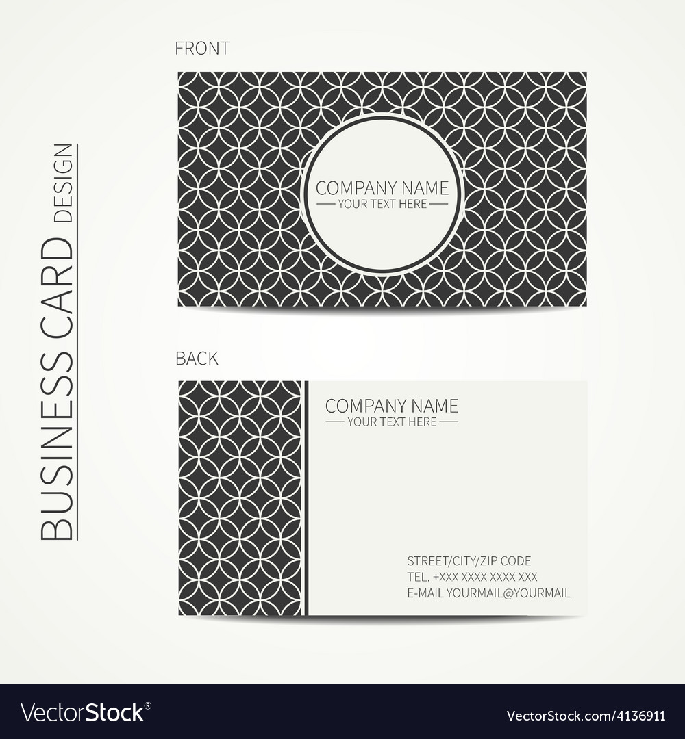 Vintage creative simple monochrome business card vector | Price: 1 Credit (USD $1)