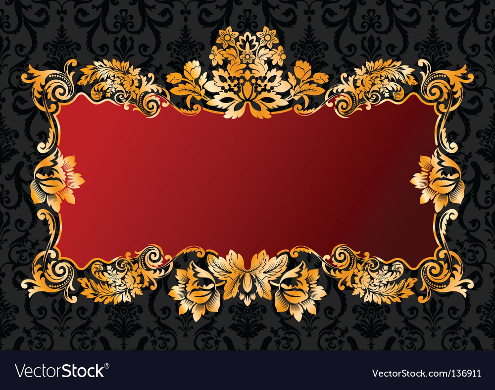 Vintage glamour frame vector | Price: 1 Credit (USD $1)