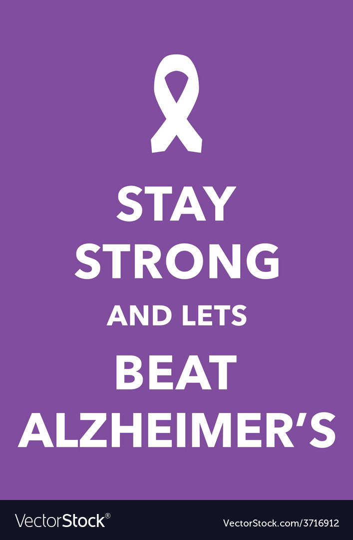 Alzheimers poster vector | Price: 1 Credit (USD $1)