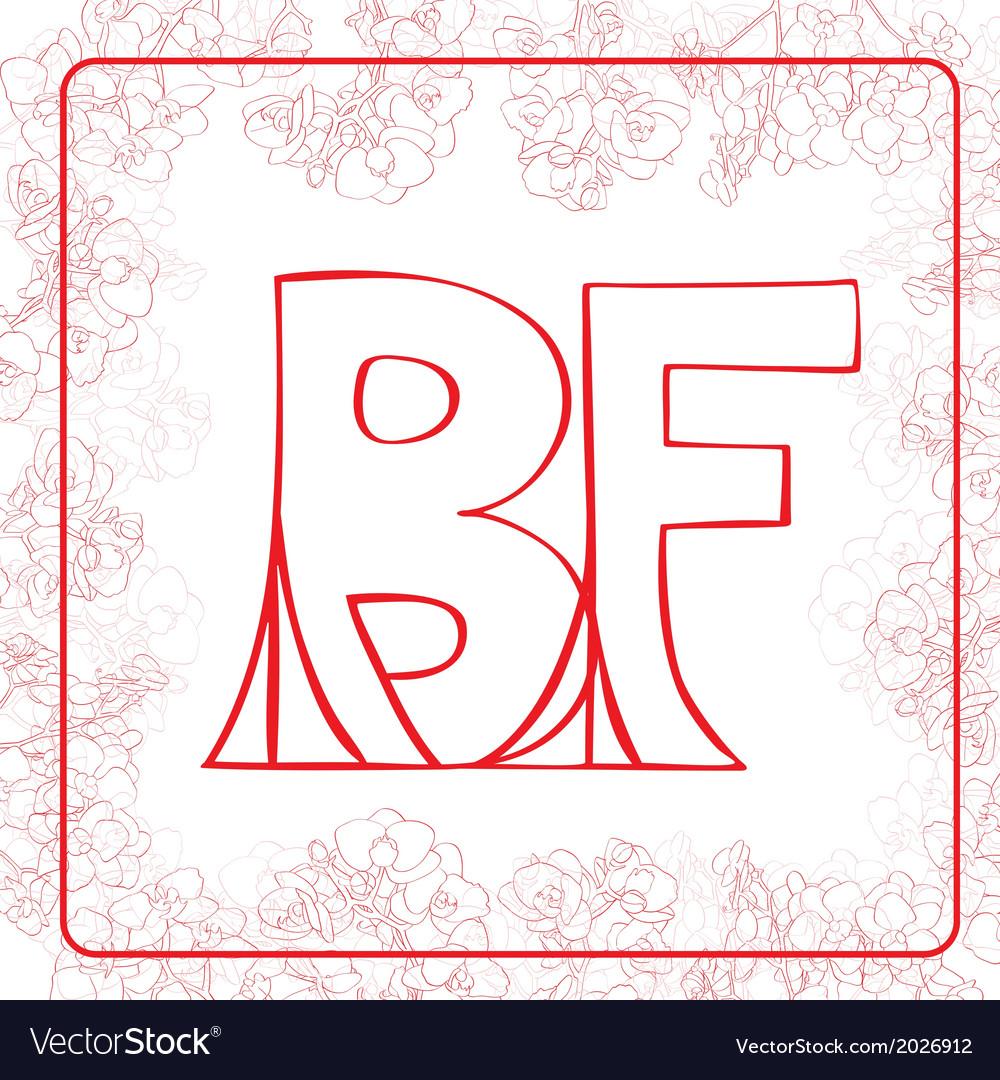 Bf monogram vector   Price: 1 Credit (USD $1)
