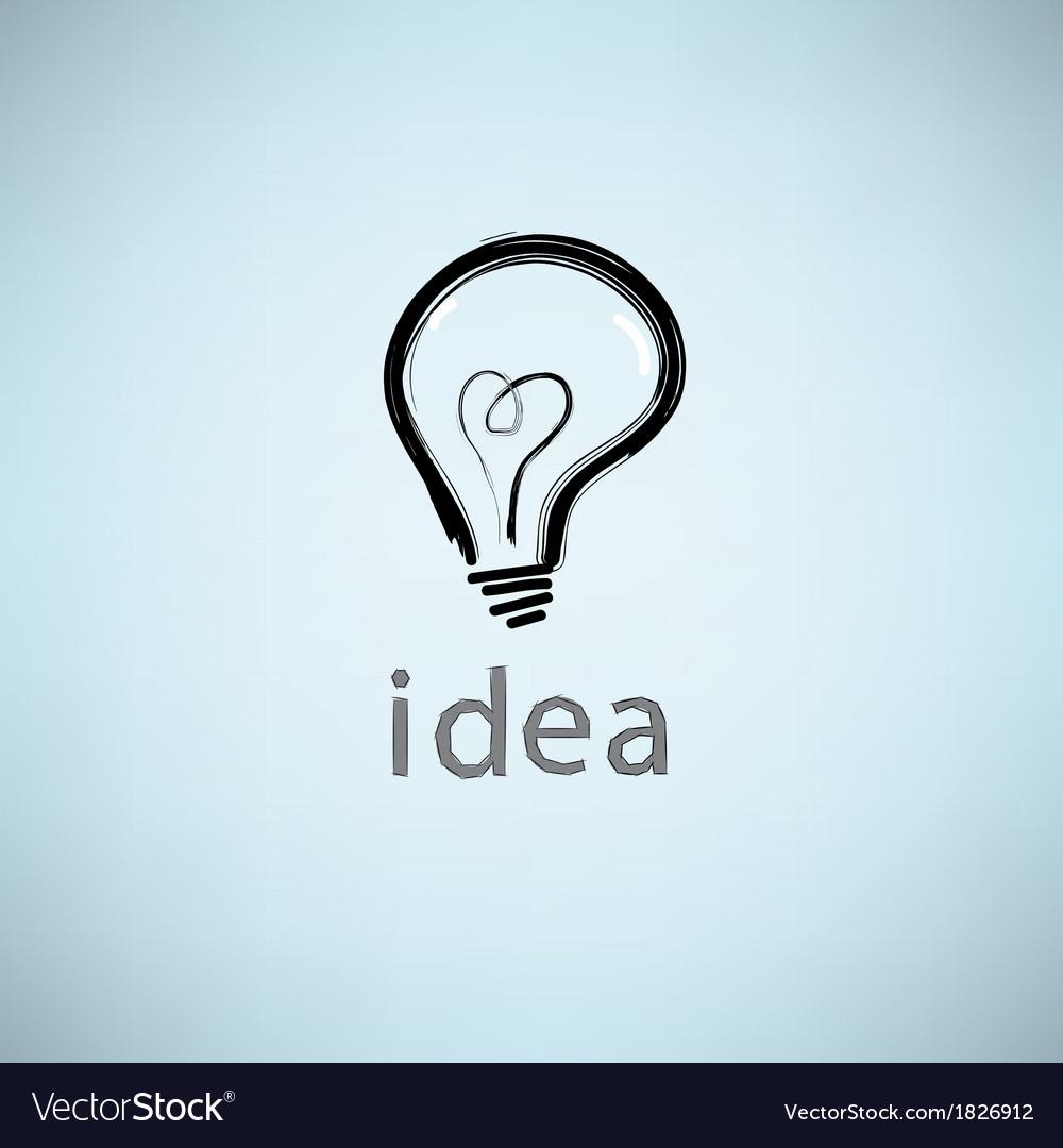 Bulb icon with idea concept vector | Price: 1 Credit (USD $1)