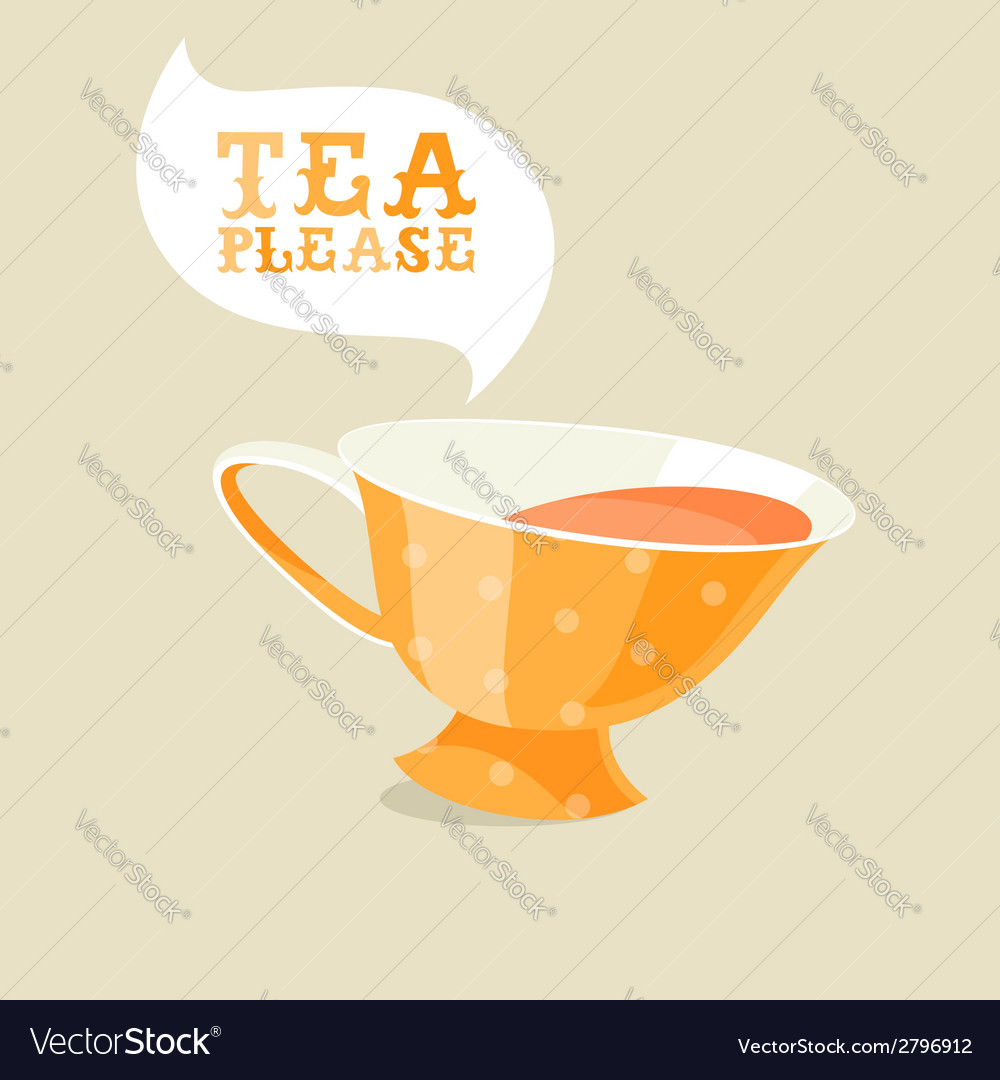 Cartoon teacup vector | Price: 1 Credit (USD $1)