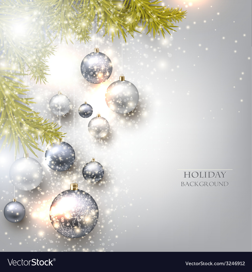 Christmas background with balls colorful xmas vector | Price: 1 Credit (USD $1)
